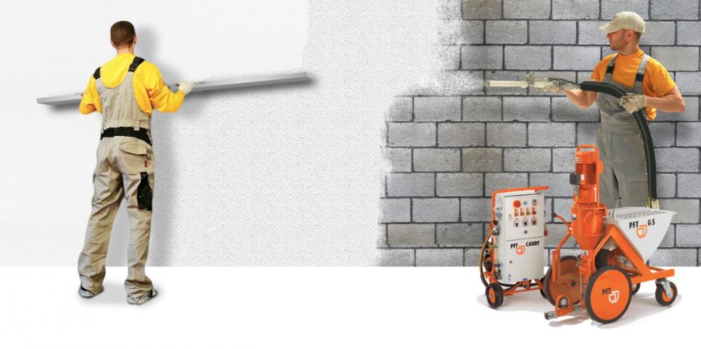 Ручная и механизированная штукатурка стен